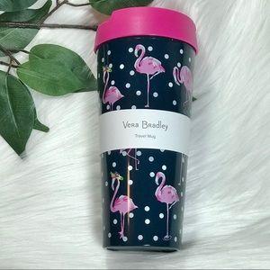 Vera Bradley Flamingo Fiesta 16oz Travel Mug NWT